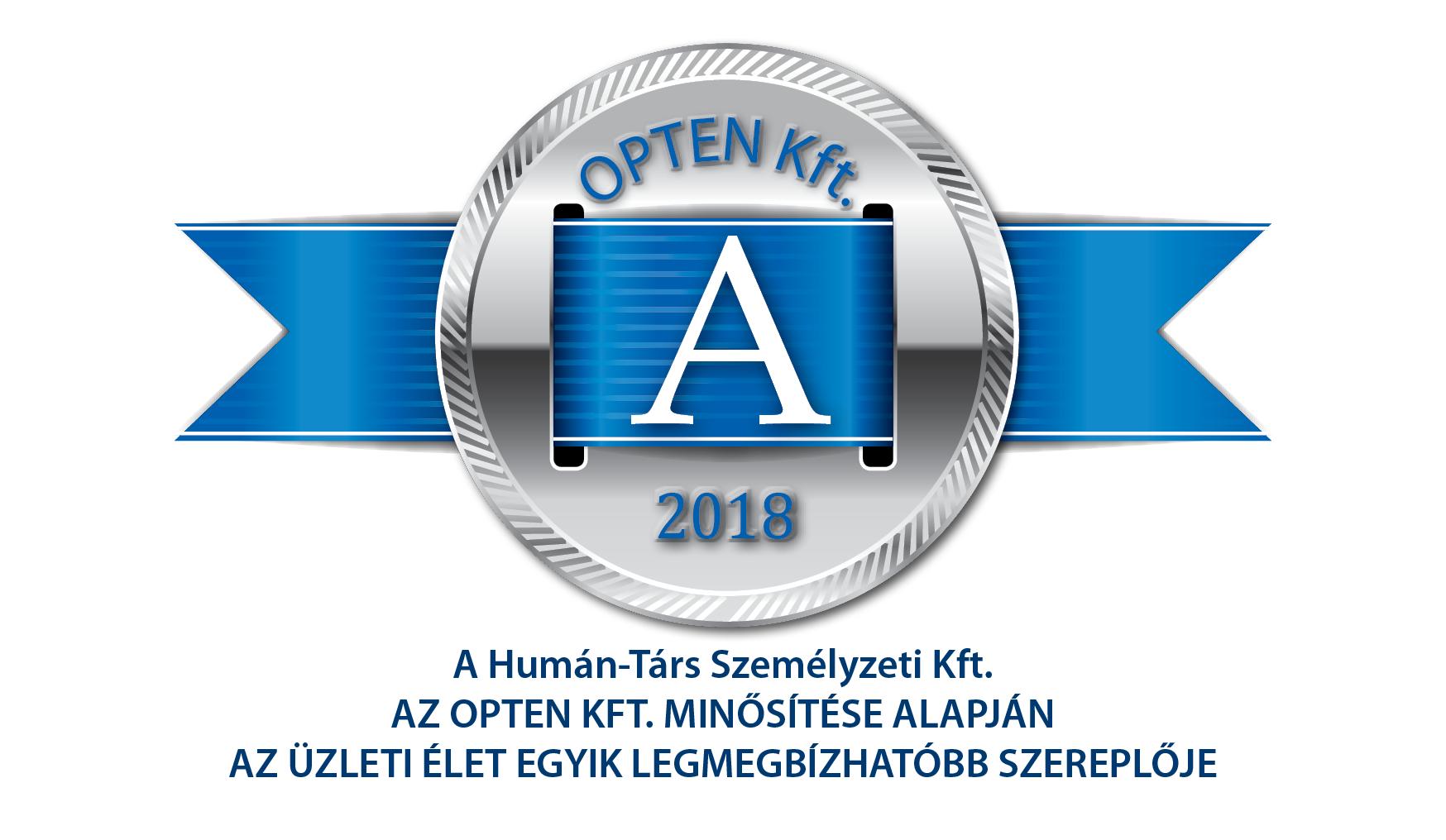 Humán-Társ Személyzeti Kft. Munkaer-kölcsönzés; Munkaerő-közvetítés; A-minősítés