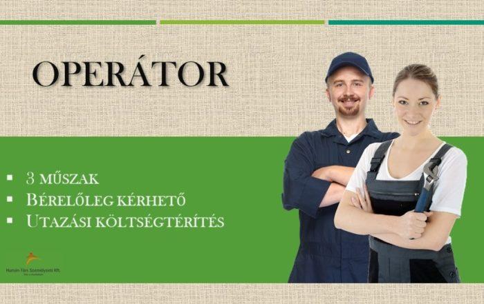 Operátor állás Nagykanizsán. Humán-Társ Személyzeti Kft.