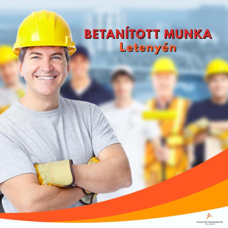 Betanított munka Letenyén - humántárs; humantars