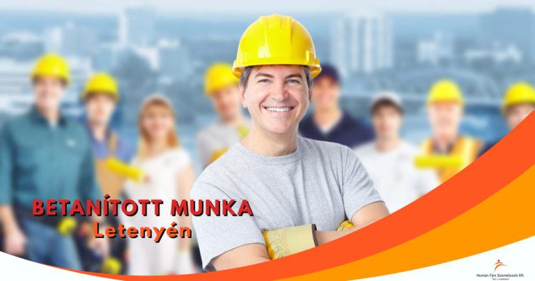 Copy of Betanított munka Letenyén - humántárs; humantars