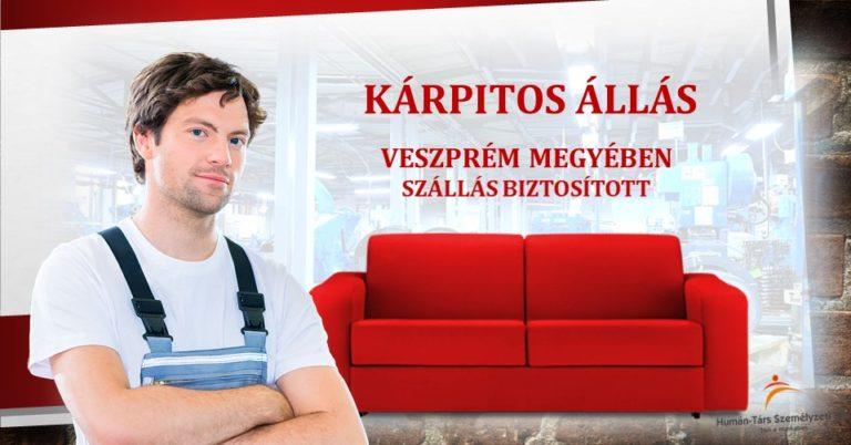 KÁRPITOS állás veszprém szentgál humántárs - facebook hirdetés
