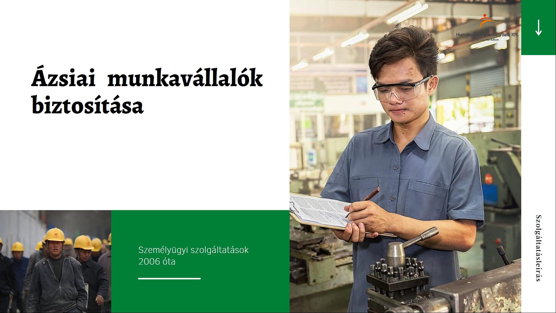humántárs munkaerő kölcsönzés közvetítés toborzás ázsiai munkaerő