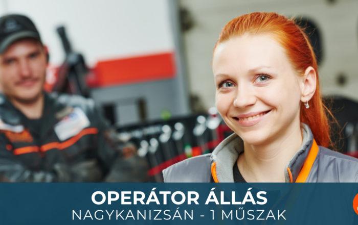 Operátor állás Nagykanizsán - Humán-Társ - 1 műszak